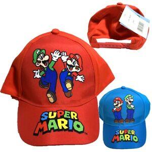 Boys Kids Children Super Mario Summer Sun Baseball Cap Hat Age 3-9 Years