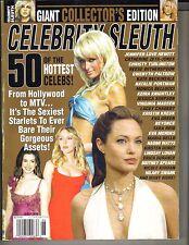 "ANGELINA JOLIE PARIS HILTON Celebrity Sleuth 2006 #98 GIANT COLLECTOR""S EDITION"