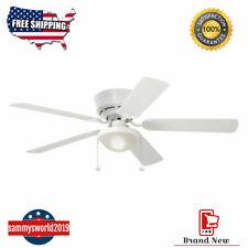 Harbor Breeze Armitage 52-in White Led Indoor Flush Mount Ceiling Fan 5 Blade