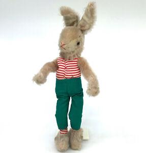 Schuco Rabbit Bendy Doll 30cm 12in Mohair and Fabric Bigo Bello 1960s no ID Vtg