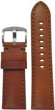 22mm Panatime Lt Brown HZ Leather Watch Band w/Match Stitching 22/20 125/75