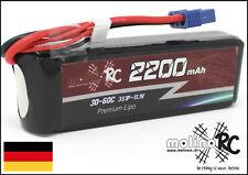 1x PREMIUM Akku 2200mAh 3S 30C - 60C EC3 NEU Lipo 11,1V Horizon Hobby Blade EC3