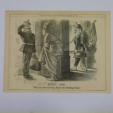 "7x10"" punch cartoon 1866 ROME 1866 pope pius ix / louis napoleon"