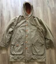 CP Company Hooded jacket W/ Rubber Wool Liner army Green brown made in Italy 50