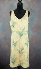 Positive Attitude Women's Dress Size 14 Yellow Spring & Summer Floral Sheath