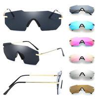 Fashion Women Men Retro Sunglasses Oversize Square Frame Irregular Metal Glasses