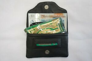 Soft Leather Tobacco Pouch Organizer with Space for Money Cards Paper Lighter