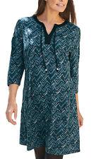 UK Size 8 - 34 Ladies Petrol Wine Grey Long StretchTunic Top or Dress EU 34-64 22 Blue