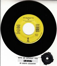 U2 With Or Without You & In God's Country record + jukebox title strip NEW RARE!