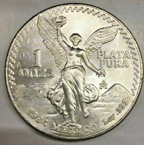1984 Mexico Libertad 1 oz 999 Fine Pure Silver One Onza Plata Pura Bullion Coin