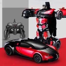 Deformed Car,Transforms into robot BUGATTI red