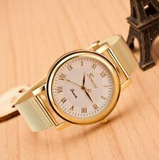 Geneva Fashion Classic Stainless Steel Women Ladies Girl Men Quartz Wrist Watch
