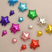 10pc Pentagram Star Aluminum Foil Balloons Inflatable Birthday Balls Party Decor