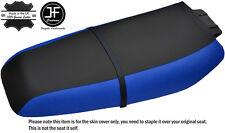 BLACK & BLUE CUSTOM FITS KAWASAKI ZXi 1100 900 96-02 VINYL SEAT COVER + STRAP