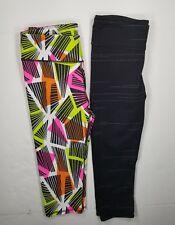 Fabletics Capri Leggings Crops Lot(2) Sz S Women's Multicolor/Black