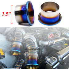 3.5'' JDM Titanium Blue Cold Air Intake System Stack Kit Turbo Horn Funnel Kit