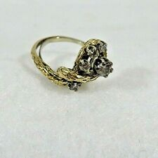 Vintage 14KT Gold with 5 Diamond  Ring  5.3 grams Size 7.5