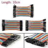 120x Dupont Wire Mâle To Mâle + Mâle To Femelle + Femelle To Femelle Jumper 10cm