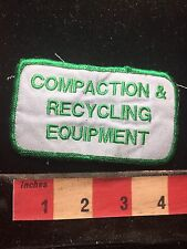 Vtg COMPACTION & RECYCLING EQUIPMENT Uniform Or Advertising Patch - Recycle C762