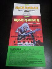 "IRON MAIDEN ""REAL LIVE"" 27.4.93 TORINO ITALY - CONCERT TICKET/BIGLIETTO CONCERTO"
