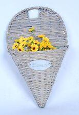 Holiday Gift Basket Beautiful Wall hanging Basket Planter, Wicker Flower Basket