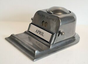 Antique Desktop Perpetual Calendar / Inkwell / Pen Stand For Nelsons Gelatines