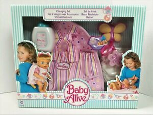 Baby Alive Changing Set 2006 NEW Factory Sealed Backpack Diaper 18657 Hasbro 821
