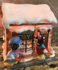 Schmid Mickey's Christmas Carol Village Toy Store W/ Minnie Lighted House