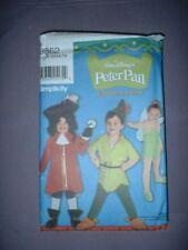 SIMPLICITY PATTERN 9862 ~ CHILD PETER PAN TINKER BELLE CAPT. HOOK ~ SZ 3-8 ~ NEW