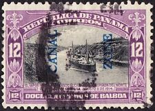 Canal Zone - 1917 - 12 Cents Purple & Black Ship Navigating the Canal Issue # 49