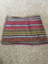 Hollister Tribal Skirt Size 0 With Hand Beading