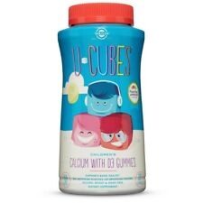 Solgar U-Cubes Children's Calcium with Vitamin D3 120 Gummies FREE US SHIPPING
