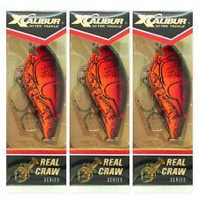 (3) Xcalibur Real Craw Square Lip Crankbait Silent Nest Robber XCS100CF05