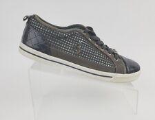 BABY PHAT Fashion Sneakers Shiny Patent Women Size 9.5 Grey Aqua Glitter