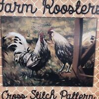Stitch X Cross Stitch Chart Farm Roosters Chickens Country Animals