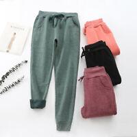 Women Winter Thermal Thick Warm Sweatpants US Fleece Lined Pants Long Trousers