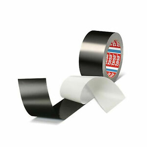 (0,40€/1m) tesa 50577, Aluminiumband, Aluminium Klebeband, schwarz, 50mm x 25m
