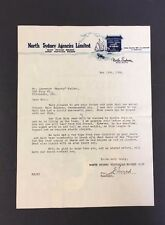 1948 Letter North Sydney Victorias Hockey Club Reference To Coach Gordie Drillon
