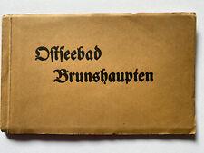 Ostseebad Brunshaupten Leporello 12AK ca 1920 Guter Zustand