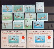 PANAMA 1963 OLYMPICS, XF ImPerf + Perf MNH** Sheets + Sets, Water Sports Stamps