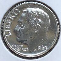 USA 1960 Roosevelt Dime Silber Proof PP Sehr Selten Polierte Platte Philadelphia
