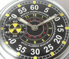 TROOPS RADIATION AND CHEMICAL DEFENSE Molnija USSR MILITARY Pocket watch