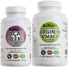 Power-Duo Acai Beere 16000 mg  & Arginin 1500 plus Maca 1200 Energiespender