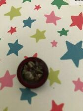1 Vintage Mother of Pearl Button - Metal Floral Insert to Centre