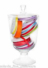 Glass Bon Bon Candy Jar 29cm Footed  Biscuit Cookie Sweets  | Apothecary Bowl