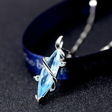 925 Sterling Silver Necklace With Aquamarine Pendant UK Seller