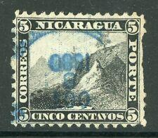 Nicaragua 1869-73 5¢ Black Momotombo Perf 12  VFU L74
