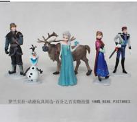 6pcs/set Queen Elsa Princess Anna Hans Kristoff Sven Olaf PVC Action Figures Toy
