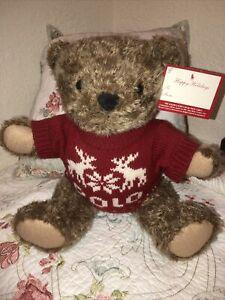 VTG 1998 POLO RALPH LAUREN POLO BEAR Teddy Bear Plush Stuffed Animal W/ Sweater
