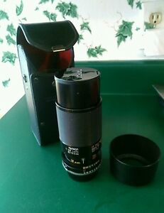 VINTAGE TAMRON ADAPTALL 2 CF TELE MACRO 1:3.8 1:4/210 80-210 mm, Hood & Case